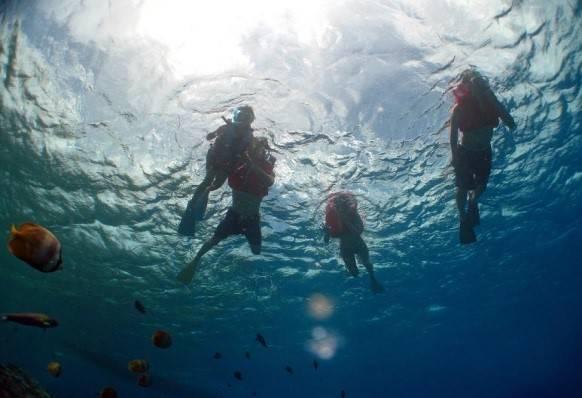 【夏季】水納島「わくわくボートシュノーケリング&バーベキューコース」