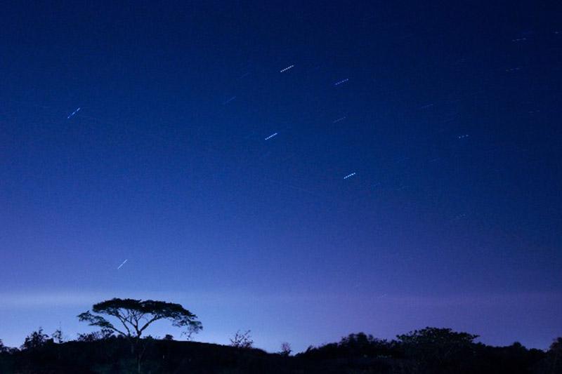 Starlit sky observation tour