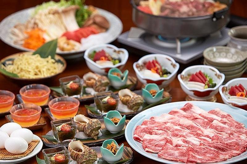 Motobu Beef sukiyaki course