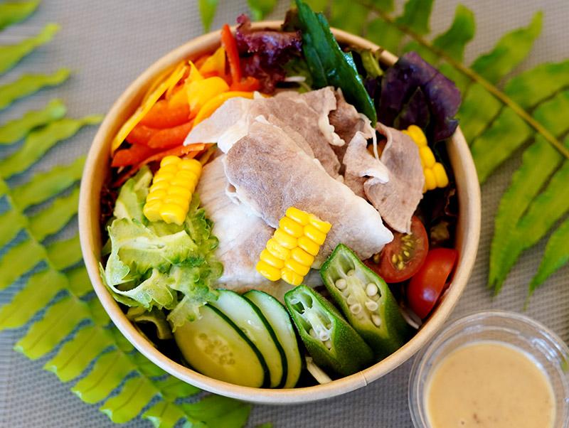 本部あぐーとやんばる野菜の冷しゃぶサラダ