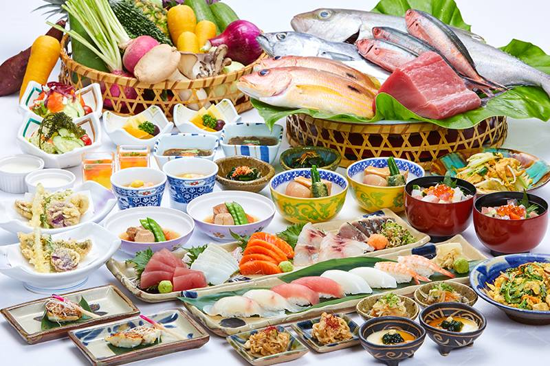 """[period limitation] """"wa* order buffet"""" which kind that is rich in Okinawan cuisine and Japanese dishes serves unlimitedly"""