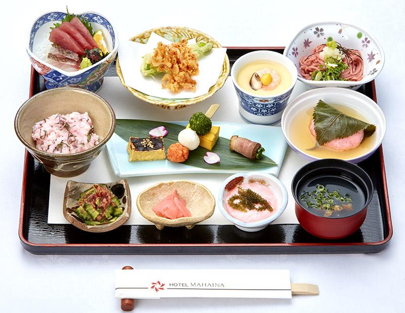 [period limitation] Seasonal meal Aya spring, sakisai ri (receive in advance) cherry tree Washoku Gozen to taste with the five senses