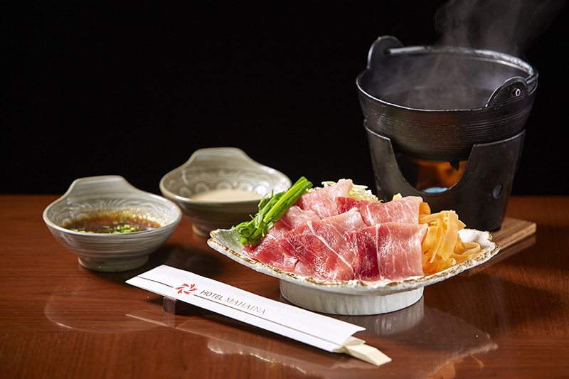 [from the winter of 2017 to the spring of 2018] Chef recommendation shabu-shabu menu